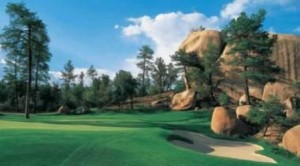 Hole #13 at The Rim Club in Payson, Arizona