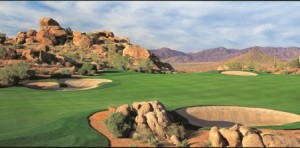 #15 hole at Troon North's Monument Course in Scottsdale, Arizona