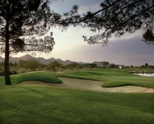 Hole #18 green at TPC Scottsdale's Champions Course